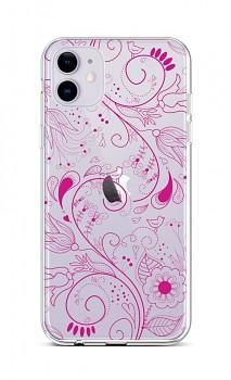 Zadní silikonový kryt na iPhone 11 Pink Ornament