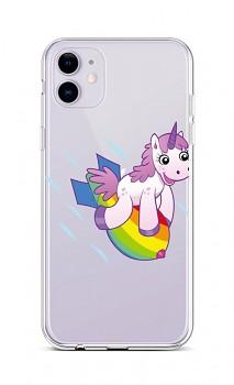 Zadní silikonový kryt na iPhone 11 Flying Unicorn