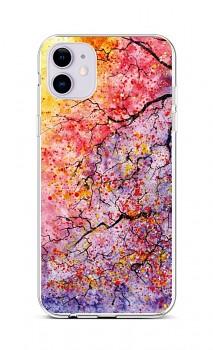 Zadní silikonový kryt na iPhone 11 Abstract Tree