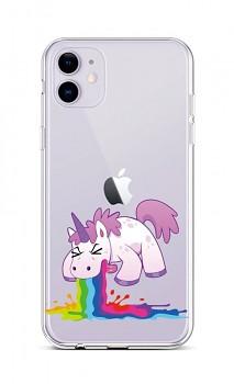 Zadní silikonový kryt na iPhone 11 Rainbow Splash