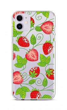 Zadní silikonový kryt na iPhone 11 Strawberries