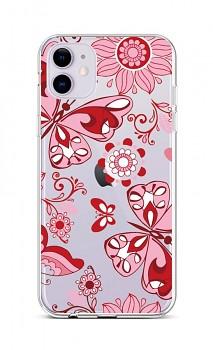 Zadní silikonový kryt na iPhone 11 Pink Butterfly