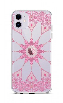 Zadní silikonový kryt na iPhone 11 Pink Mandala