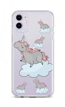 Zadní silikonový kryt na iPhone 11 Grey Unicorns