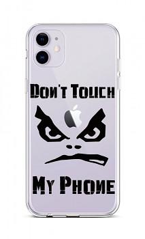 Zadní silikonový kryt na iPhone 11 Don't Touch průhledný