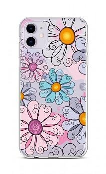 Zadní silikonový kryt na iPhone 11 Colorful Daisy
