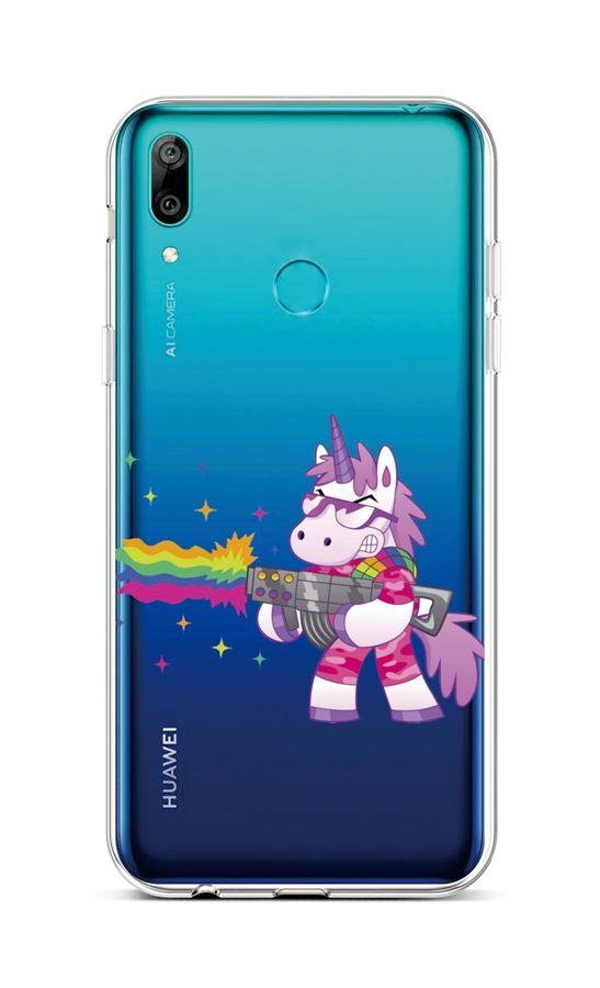 Zadní silikonový kryt na Huawei Y6 2019 Rainbow Gun