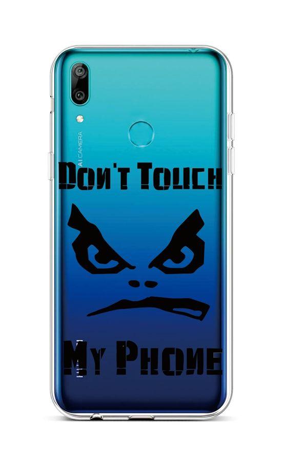 Zadní silikonový kryt na Huawei Y6 2019 Don't Touch průhledný