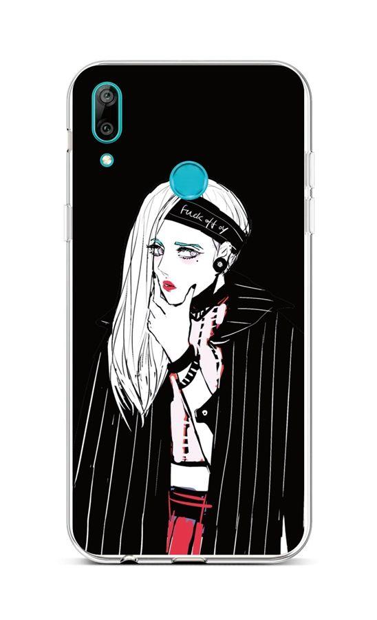 Zadní silikonový kryt na Huawei Y6 2019 Dark Girl