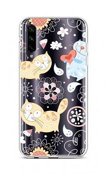 Zadní silikonový kryt na Xiaomi Mi A3 Happy Cats