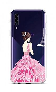 Zadní silikonový kryt na Samsung A30s Pink Princess