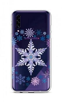 Zadní silikonový kryt na Samsung A30s Snowflake
