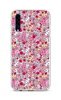 Zadní silikonový kryt na Samsung A30s Pink Bunnies