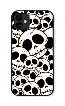 Zadní pevný kryt LUXURY na iPhone 11 Skulls