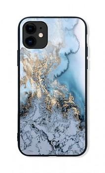 Zadní pevný kryt LUXURY na iPhone 11 Marble Blue