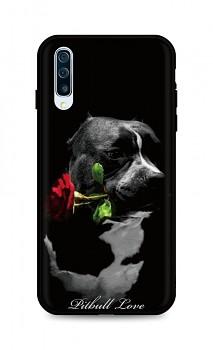Zadní silikonový kryt DARK na Samsung A50 Pitbull Love