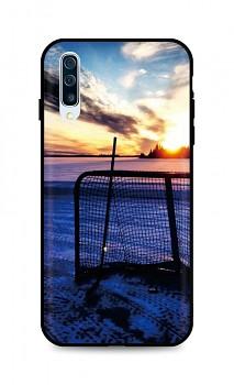 Zadní silikonový kryt DARK na Samsung A50 Hockey Sunset