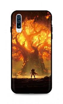 Zadní silikonový kryt DARK na Samsung A50 Warcraft
