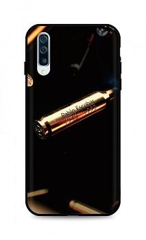 Zadní silikonový kryt DARK na Samsung A50 Pablo Escobar Bullet