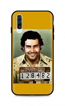 Zadní silikonový kryt DARK na Samsung A50 Pablo Escobar
