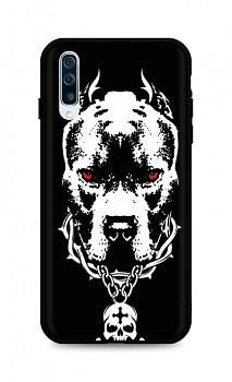 Zadní silikonový kryt DARK na Samsung A50 Fighting Dog