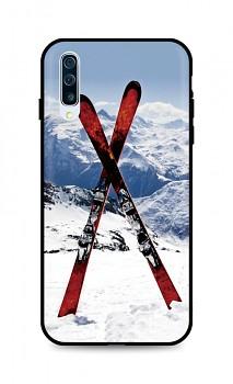 Zadní silikonový kryt DARK na Samsung A50 Skiing