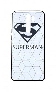 Zadní 3D silikonový kryt na Xiaomi Redmi Note 8 Pro Bílý Superman