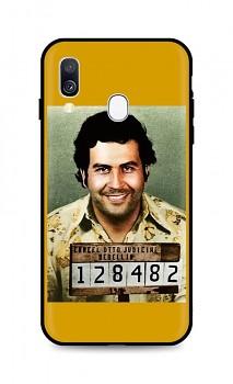 Zadní silikonový kryt DARK na Samsung A40 Pablo Escobar