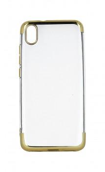 Zadní silikonový kryt na Xiaomi Redmi 7A Frame zlatý