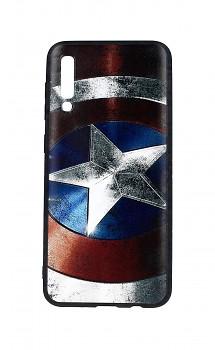 Zadní 3D silikonový kryt na Samsung A30s Captain America