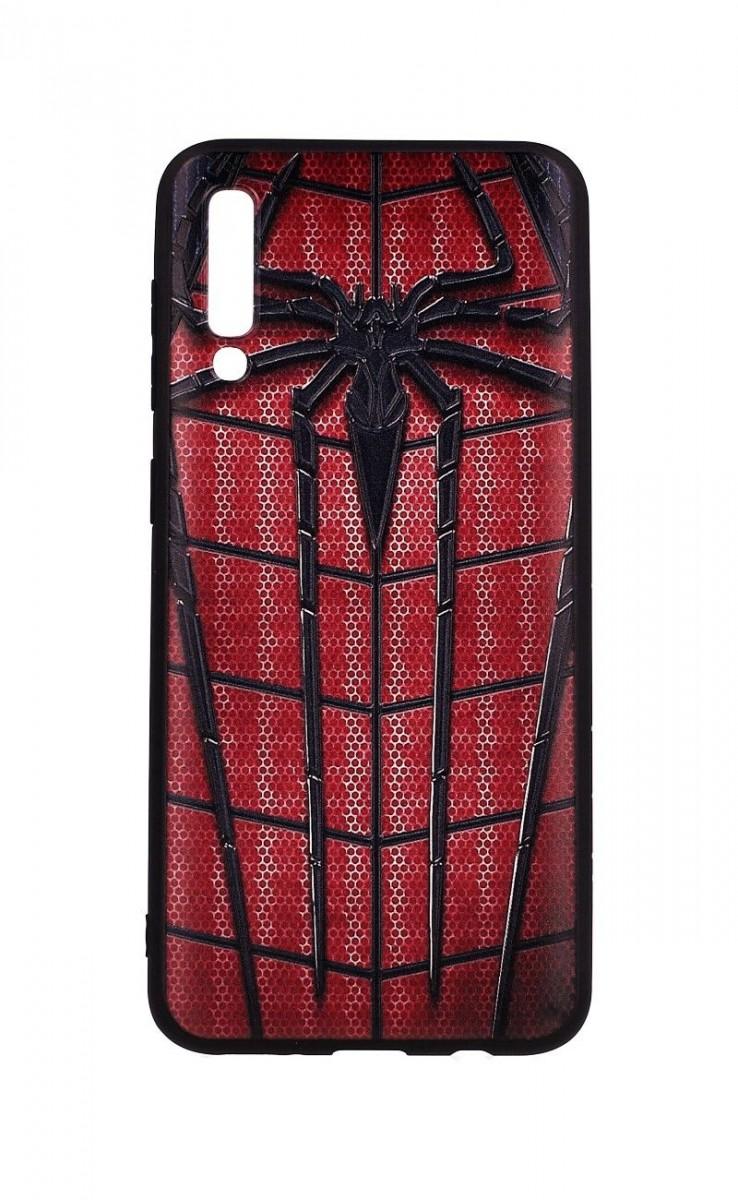 Zadní 3D silikonový kryt na Samsung A30s Spider-man