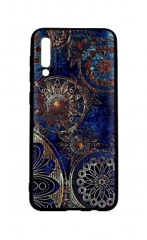 Zadní 3D silikonový kryt na Samsung A30s Modrý orient