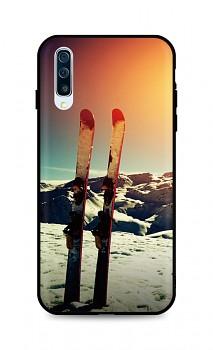 Zadní silikonový kryt DARK na Samsung A50 Ski