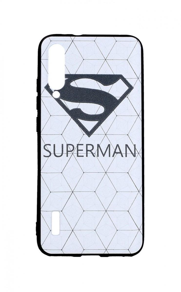 Zadní 3D silikonový kryt na Xiaomi Mi A3 Bílý Superman