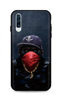 Zadní silikonový kryt DARK na Samsung A50 Monkey Gangster