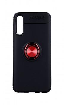 Zadní silikonový kryt na Samsung A30s černý s červeným prstenem