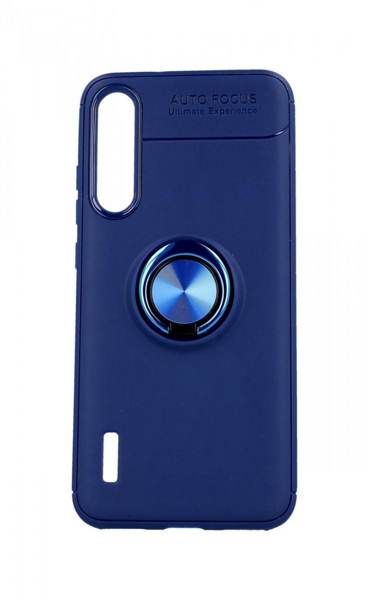Zadní silikonový kryt na Xiaomi Mi A3 modrý s modrým prstenem