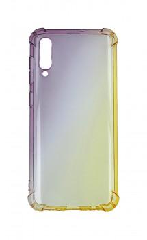 Zadní silikonový kryt na Samsung A30s Shock duhový purpurovo-žlutý