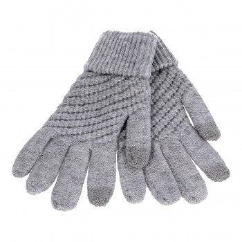 Dotykové rukavice pro mobilní telefon STYLE šedé vel. S-M