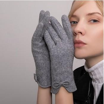 Dotykové rukavice pro mobilní telefon Elegance šedé vel. S-M