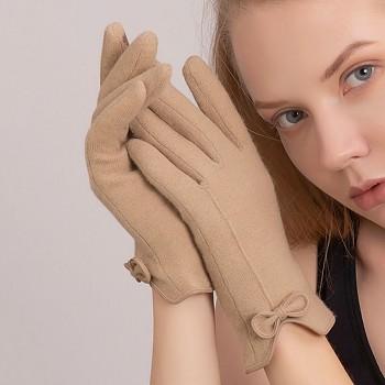 Dotykové rukavice pro mobilní telefon Elegance béžové vel. S-M