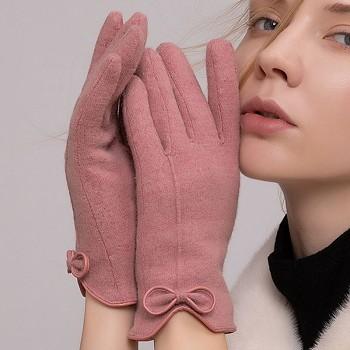 Dotykové rukavice pro mobilní telefon Elegance růžové vel. S-M