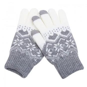 Dotykové rukavice pro mobilní telefon Hearts šedé vel. M