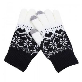 Dotykové rukavice pro mobilní telefon Hearts černé vel. M
