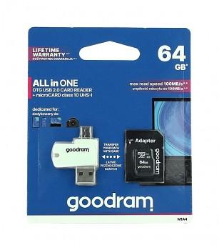 Paměťová karta GOODRAM 64GB Class 10 + čtečka micro USB