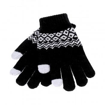 Dotykové rukavice pro mobilní telefon Scandinavia černé vel. M