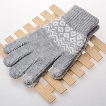 Dotykové rukavice pro mobilní telefon Scandinavia šedé vel. M