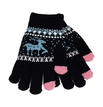 Dotykové rukavice pro mobilní telefon Sob černé vel. M