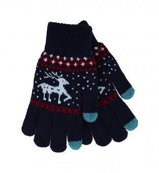 Dotykové rukavice pro mobilní telefon Sob modré vel. M