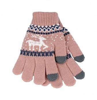 Dotykové rukavice pro mobilní telefon Sob světle růžové vel. M